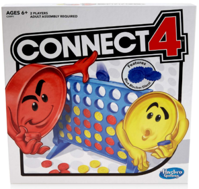 This is an image of boy's Connect 4 strategy board game