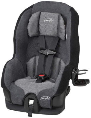 This is an image of infant's convertible car seat in gray color