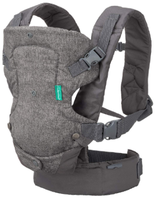 This is an image of mom's covertible carrier for babies in gray color