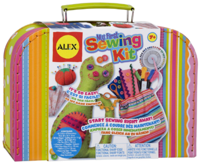 This is an image of girl's craft my first sewing kit