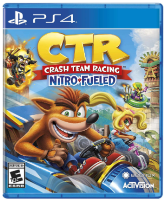 This is an image of kid's Crash racing game for playstation 4