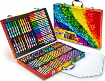 This is an image of an art coloring set for kids by Crayola.
