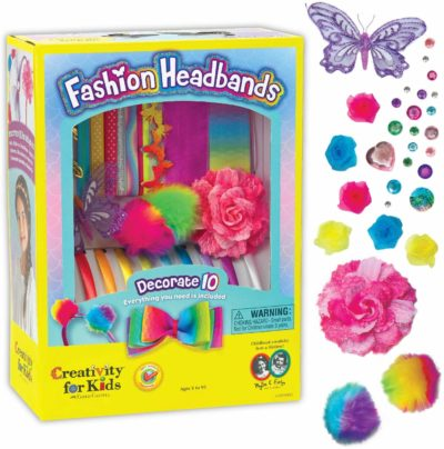 This is an image of a headband craft set for little girls by Creativity for Kids.