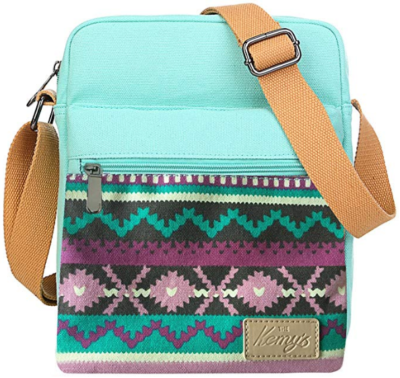 This is an image of girl's crossbody bag and purse in colorful colors