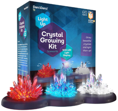 This is an image of boy's Crystal growing kit in colorful colors