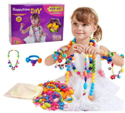 This is an image of girl's DIY jewelry kit in multi colors