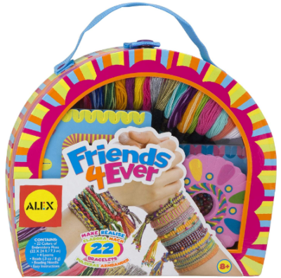 This is an image of girl's DIY bracelet kit by ALEX in colorful colors