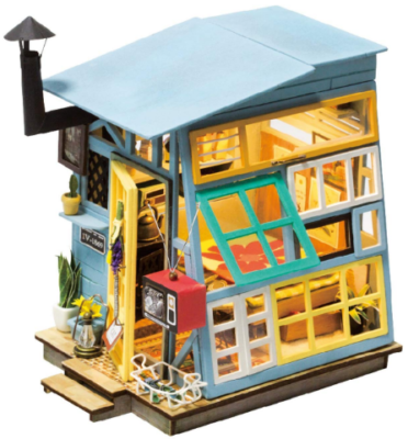 This is an image of girl's DIY dollhouse kits