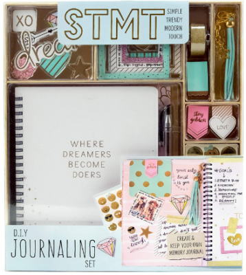 This is an image of girl's journaling DIY set