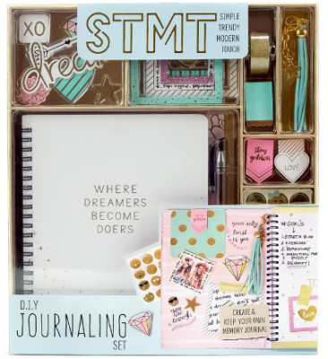 This is an image of girl's DIY journaling set