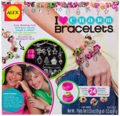 This is an image of girl's diy wear heart charm bracelet by ALEX
