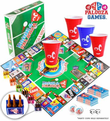 This is an image of a party game called DRINK-A-PALOOZA.