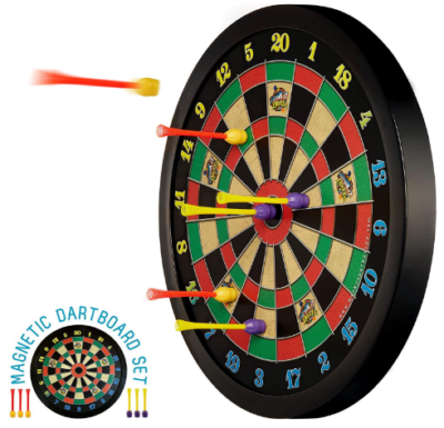 This is an image of boy's magnetic dart board