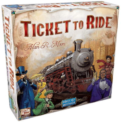 This is an image of kid's days wonder ticket to ride board game