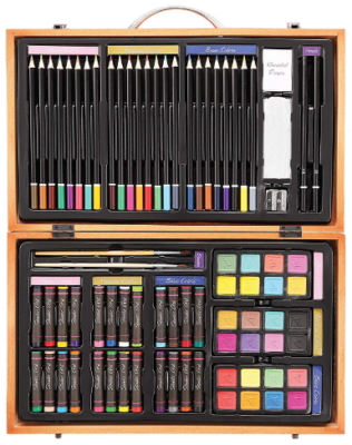 This is an image of boy's Deluxe art set