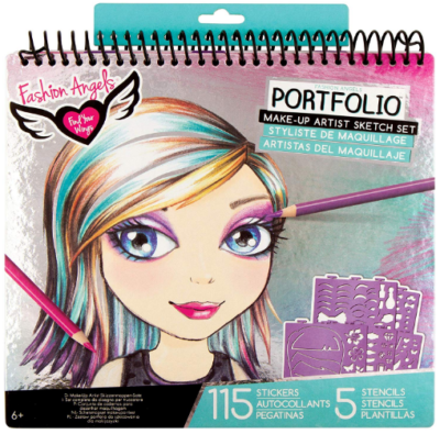This is an image of girl's design sketch portfolio