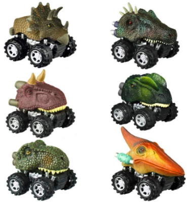 This is an image of boy's cars with dinosaur design pack