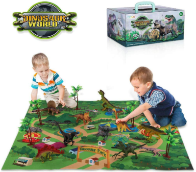 This is an image of boy's dinosaur figure board game