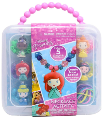 This is an image of girl's disney princess necklace activity