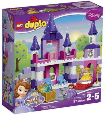 This is an image of girl's LEGO duplo disney royal castle building set
