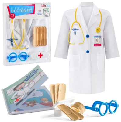 This is an image of girl's costum doctor kit