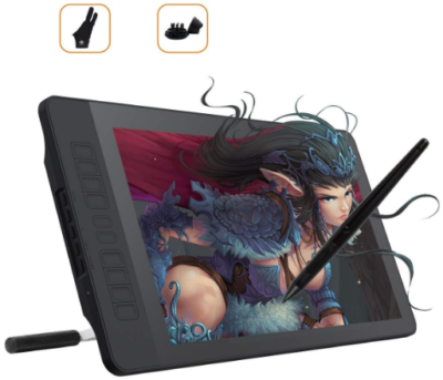 This is an image of boy's drawing tablet with pen