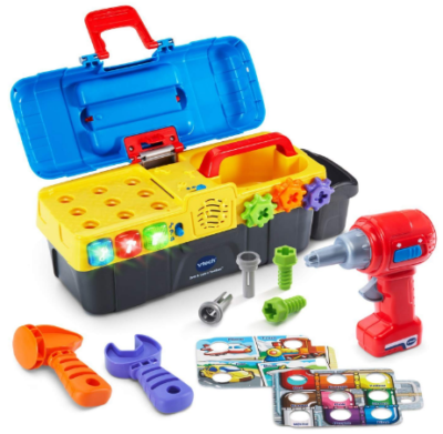This is an image of boy's toolbox toy in colorful colors