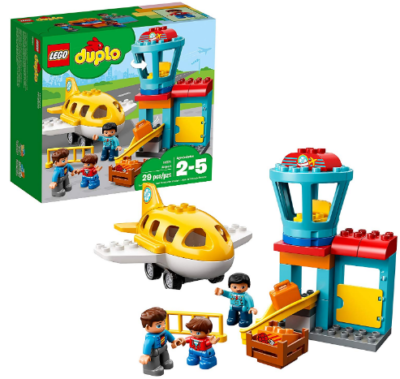 This is an image of boy's LEGO duplo town airport building blocks