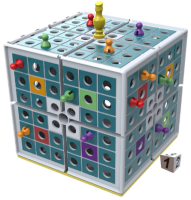 This is an image of boy's 3D strategy board game in colorful colors