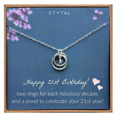 This is an image of a sterling silver for 21 year old girls by EFYTAL.