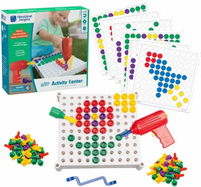 This is an image of a 146 piece build and learn drill toy for kids by Educational Insights.