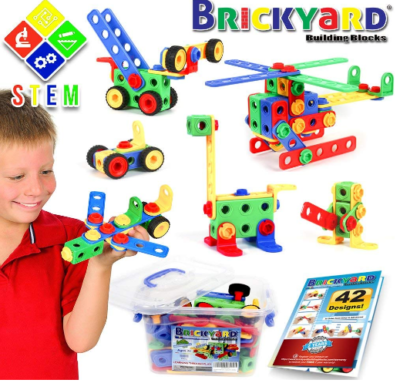 This is an image of boy's Educational construction building blocks in colorful colors