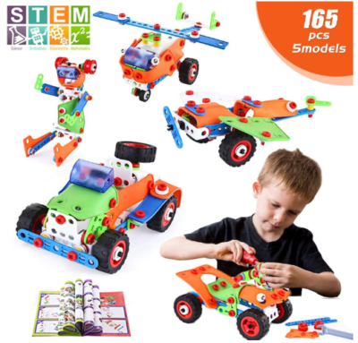 This is an image of boy's Educational construction engineering building toys set