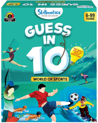 This is an image of boy's sport card game named guess in 10