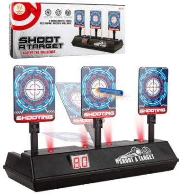 This is an image of boy's electric digital target for gun toys in multi colors