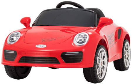 This is an image of girl's power wheels car 6V battery in orange color