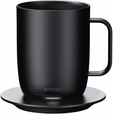 This is an image of a black smart mug by Ember.