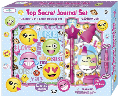 This is an image of girl's Emoji journal book set in colorful colors