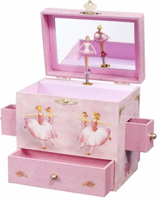 This is an image of a pink ballerina storage box by Enchantmints.