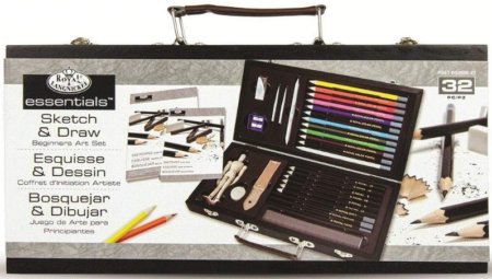 This is an image of girl's essentia art sketching and drawing artist set