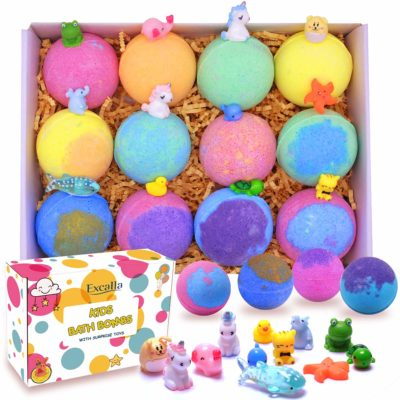 This is an image of a bath bombs for kids with surprise toys inside by Excalla.