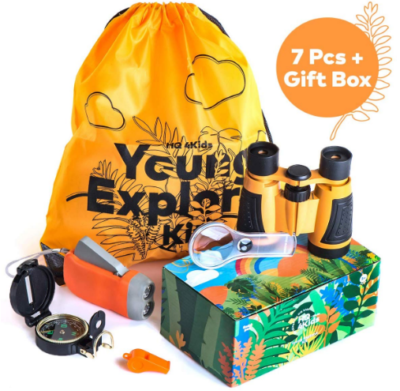 This is an image of boy's Explorer camping kit in orange color