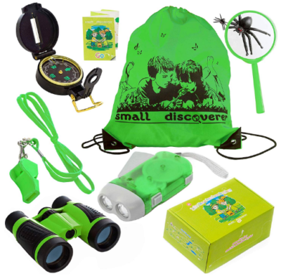 This is an image of kid's explorer outdoor kit in green color