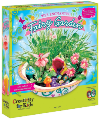 This is an image of girl's Fairy garden craft kit