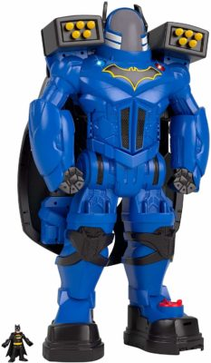 This is an image of a blue batman robot by Fisher Price.