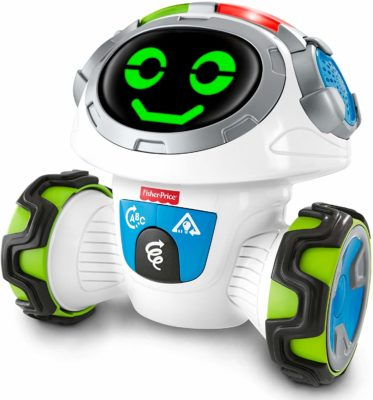This is an image of a teach and learn robot for kids by Fisher Price.