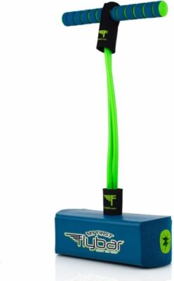 This is an image of a blue foam pogo jumper for kids by Flybar.