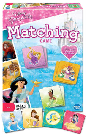 This is an image of girl's disney matching card game