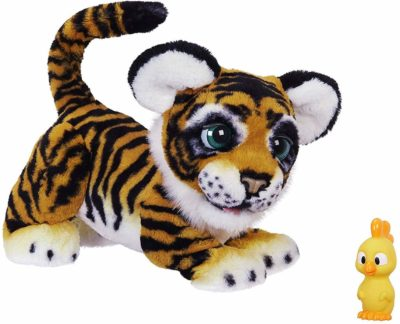 This is an image of an interactive tiger toy for kids by FurReal.