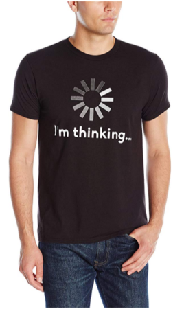 This is an image of boy's T-shirt with i'm thinking graphic